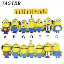 JASTER minions usb flash drive despicable me 2 memory stick pendrive 4gb 8gb 16gb lovely usb stick mini pen drive USB 2.0