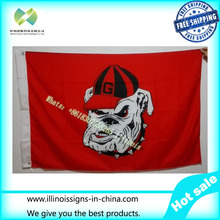 University of Georgia Bulldogs USA NCAA Flag hot sell goods 3X5FT 150X90CM Banner brass metal holes GUB1