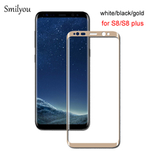 New 3D Curved Full Cover Tempered Glass Screen Protector for Samsung Galaxy S8 S8 Plus S7 edge 9H Protective Film for S8 S8+