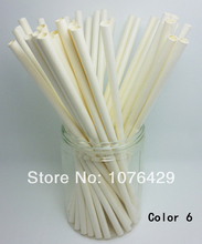 50 Pcs Paper Straws Solid Color Drinking Straws For Wedding Party Birthday Decoration Color 6