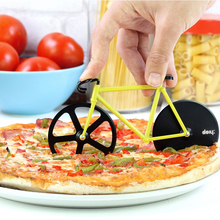 icycle shape Pizza Cutter / Slicer - 2 Stands - Dual Stainless Steel Wheel Blades A Sporty and Awesome Kitchen tools(China)