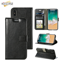 KISSCASE Flip Phone Case For iPhone 6 6S Plus Cover Leather Wallet Phone bag case For iPhone 7 Card Slot Stand Magnetic Cover