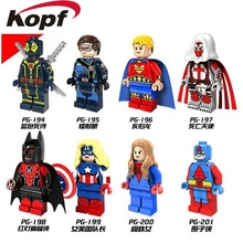 Angel of Death Red Light Batman Female Captain America Cyclops Spider Woman Building Blocks Bricks Children Gift Toys PG8056(China)