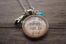 12pcs Ratatouille quot; Inspired Necklace. Remy the rat in Paris Only the Fearless can be Great crystal(China)