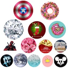 Fashion Cute Round POP Phone Holder for Iphone 7 6 5S phone Support Mobile Phone Stand For Huawei P8 Lite