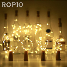 Buy ROPIO 20 30 LEDs String Light DIY Wine Bottle Stopper Copper Wire Fairy Lights Wedding Christmas Holiday Party Decoration for $2.46 in AliExpress store