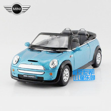 Free Shipping/KiNSMART Toy/Diecast Model/1:28 Scale/Mini Cooper S Convertible/Pull Back Car/Educational Collection/Gift/Children(China)