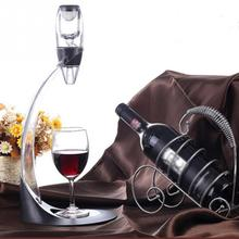New Design Wine Aerator Decanter with Base Wine Aerator Filter Air intake Pour Pourer Aerating Stopper BAR Wine Accessories