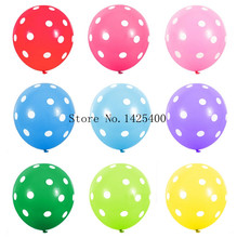 TSZWJ Free shipping 10pcs / lots latex balloons birthday party decoration dot latex toy balloons wholesale(China)