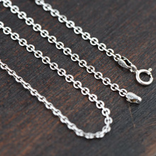 GZ 925 Sterling Silver Necklace for Women Men Jewelry Accessorice Thai S925 Solid Silver Link Chain Jewelry Making Necklace(China)