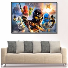 0208 Lego Ninjago Shadow Ronin 2015 Art Silk Fabric Wall Poster Decor - jianz_ArtPoster Store store