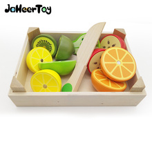 JaheerToy Baby Kitchen Toys Set Cut Fruit Toys for Children Simulation Kitchen Montessori Educational Early Childhood(China)
