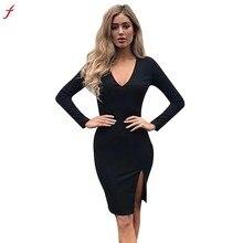 FEITONG Women Summer Dress 2018 Vestido de festa Summer Slim Women Bodycon  Dress Sexy Woman Tight 84bd85311037