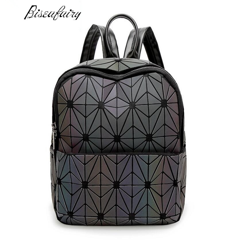 2017 New Bao bao women nano bag Diamond Lattice Tote geometry Quilted backpack sac bags women The chameleon series<br>