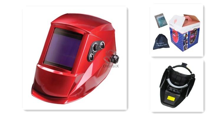 red Big view eara 4 arc sensor grinding cutting Solar auto darkening EH-907 welding mask/helmet/welder cap/face mask<br><br>Aliexpress