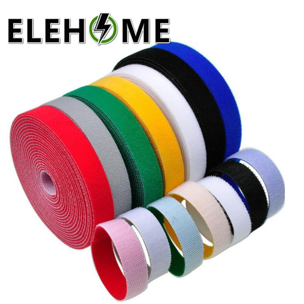 VELCRO® Brand Hook and loop ONE-WRAP® back 2 back Strapping 10mm Blue X 5metres