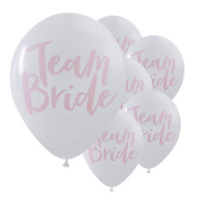 10PC Team Bride White Pink Hen Night Do Party Wedding Latex Printed Balloons party decoration DIY home decoration accessories