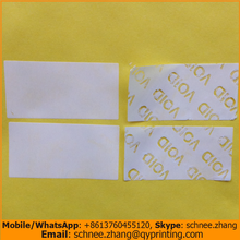 200pcs Free shipping white blank labels self adhesive label waterproof tamper evident carton sealing sticker VOID OPEN 40*20mm(China)