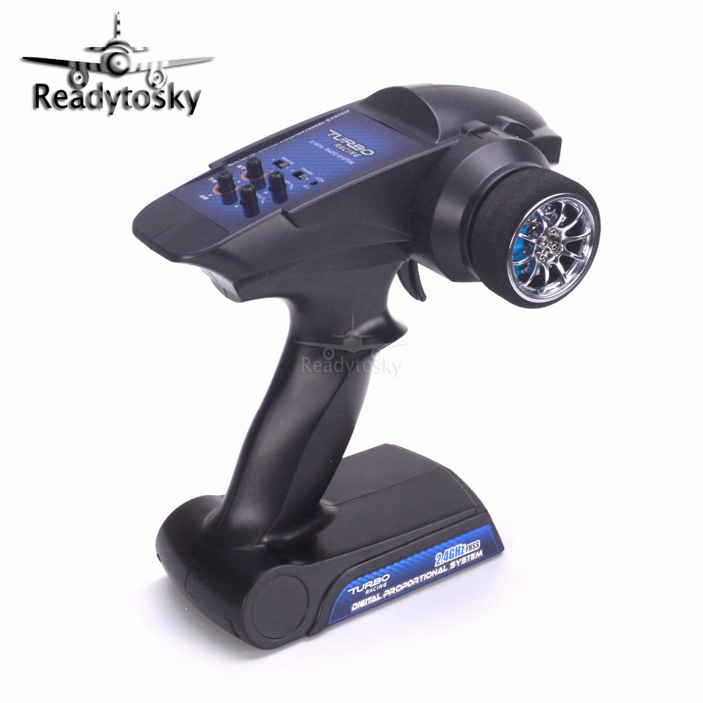 TURBO Racing 94100G 2.4GHz 2CH Gun RC Radio system controller remote control with Receiver PK FS-GT3B GT3B For RC Car Boat<br>