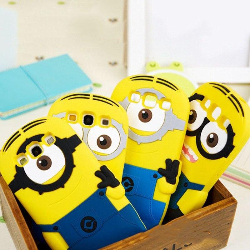 Fashional new arrival cute cartoon model silicon material Despicable Me Yellow Minion font b Case b