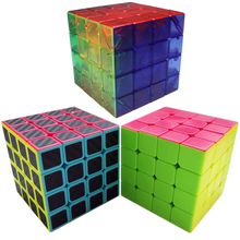 4*4*4 Speed Cube Colorful Stickerless Smooth PVC Magic Cube Rubik Cubo Puzzle 6.2CM 4x4x4 Transparent Educational Toy for Kids