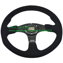 Mugen Steering Wheel Flat Car Steering Wheel 350mm Diameter Universal Fitment Black Arm(China)