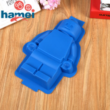 1  PC Fondant Silicone Cake Lego Mold Super Big Silikon Robot Mould Sugar Craft and Gum Paste Decorating Tools