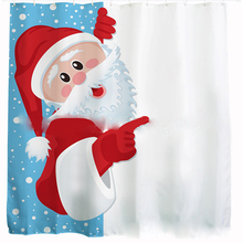 3D digital printing Christmas gift thick-waterproof polyester shower curtain Christmas and Halloween theme(China)