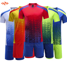 survetement football 2017 maillot de foot 2018 men Soccer jersey Breathable Training Set Sports Kits men DIY Soccer Suits(China)