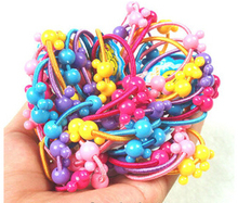 TS240 2017 new fashion Good girl dress Head rope colored plastic buckle small children hair band Jewelry Wholesale 5pcs/lot