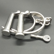 Buy Adjustable handcffus sex bondage tool bdsm fetish slave restraints sex toys couples adult games stainless steel hand cuffs