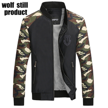 2017 new brand of clothing worn in the fall of a young man wearing a thin coat of Baseball Jacket Camouflage Military Jacket