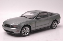 1:18 Diecast Model for Ford Mustang GT 2010 Grey Alloy Toy Car Collection Gifts(China)