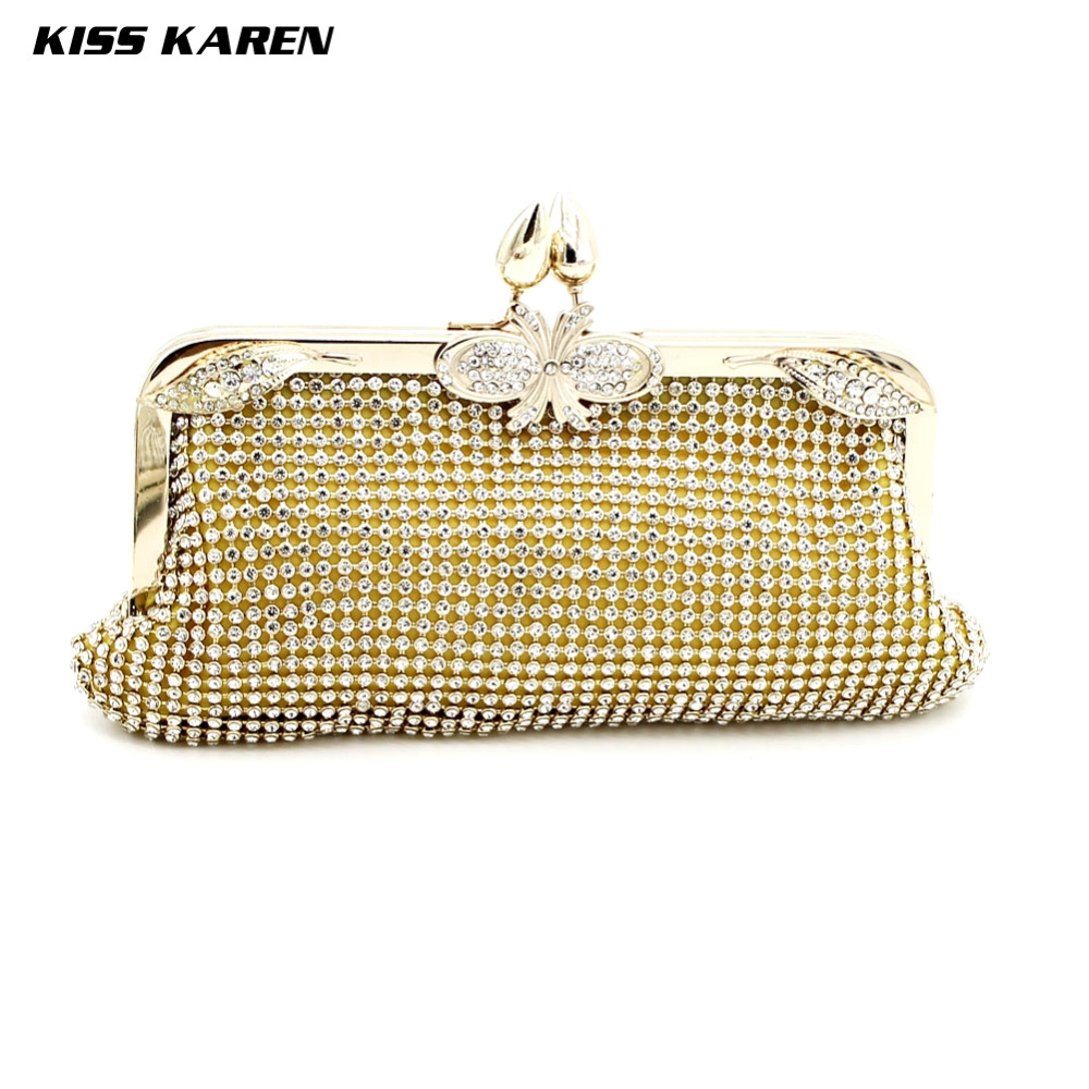 Kiss Karen Noble Diamonds Mesh Hasp Small Pepper Beading Fashion Women Evening Bags Lady Party Clutches Bags Elegant Minaudiere<br><br>Aliexpress