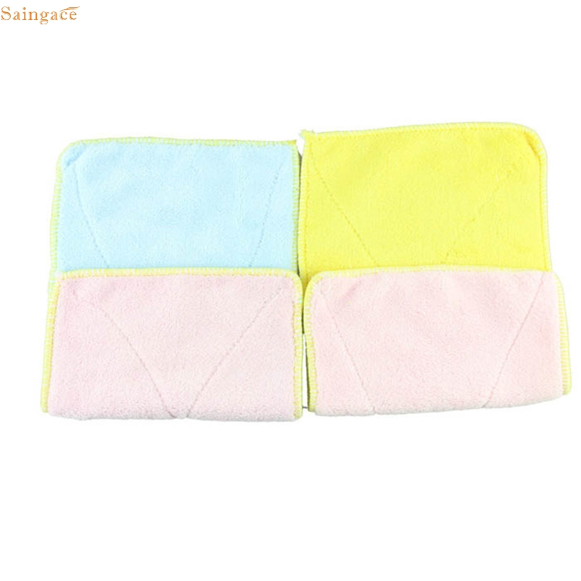 Saingace 1pc Kitchen Cleaning Cloth Fashion Soft Micro Fibre Dishcloth (Random Color) u70130(China)
