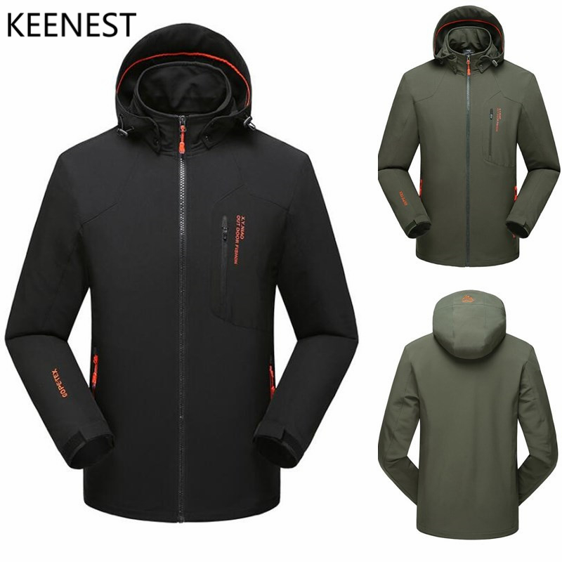 KEENEST Mens Softshell Hiking Jackets Male Outdoor Camping Trekking Climbing Coat For Waterproof Windproof RK8816 <br>