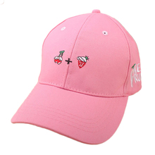 New 2017 Spring Leisure Fresh Fruit Embroidery Hat  Strawberry Banana Cherry Orange Peach  Baseball Cap For  Women  Men