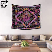 PEIYUAN Hot Sale Bohemian Colorful India Mandala Tapestry Wall Hanging Table Cloth Tapestry Beach Towel Home Decorative(China)
