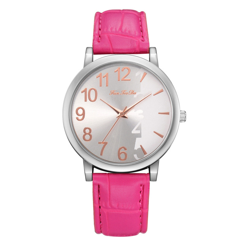 2018 High Quality women fashion casual watch luxury dress Leather bands Analog Quartz Wrist Watch clock relogio feminino Y12 (6)