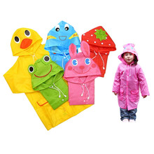 5pcs Kids Rain Coat children Raincoat Rainwear/Rainsuit,Kids Waterproof Animal Rain coat colorful color on sale