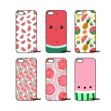 For iPhone 4 4S 5 5C SE 6 6S 7 Plus Samsung Galaxy Grand Core Prime Alpha Summer Fruit Watermelon Red Pattern Cell Phone Case(China)