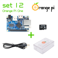 Orange Pi One SET12: Pi One+ Transparent ABS Case+ Power Cable + 16GB Class 10 Micro SD Card Beyond Raspberry