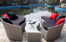 2017 new design outdoor wicker furniture patio rattan furniture sofa set