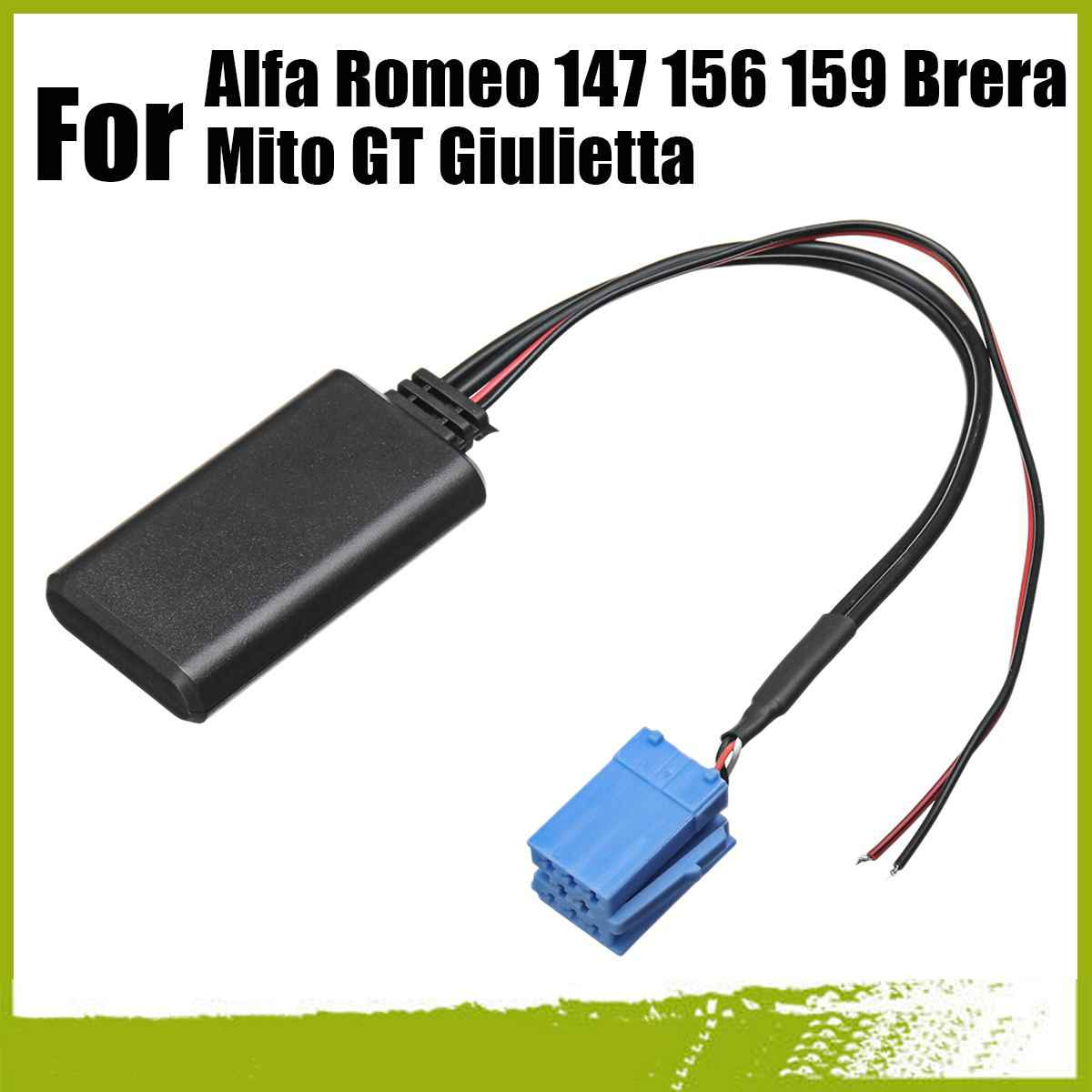For Alfa Romeo 147 156 159 Brera Mito GT Giulietta 8Pin Bluetooth Audio Adapter Interface Radio bluetooth AUX Wiring