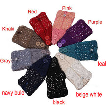 NEW wholesale fashion wool knitted headband gems bow turban headwrap headband winter hairband fashion hair accessories