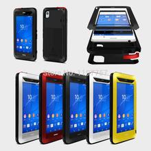 Original  Love Mei powerful Water Proof Aluminum Metal Silicon case for SONY Xperia Z3 Gorilla glass screen protector