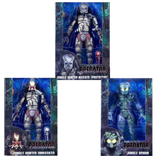 Predator Figure 30th Anniversary Jungle Hunter Masked (Prototype) Jungle Demon Jungle Hunter Unmasked PVC Action Figures(China)