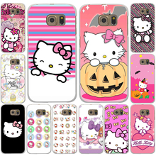 Fashionable Hello Kitty cute Hard White Case Cover for Galaxy A3 A5 7 8 J5 7 & Note 2 3 4 5 &Grand 2 & Prime