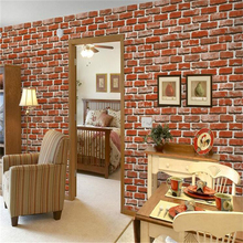 beibehang pvc Style 3D Stereo Wallpaper Simulation Brick Culture Stone Red Brick Wallpaper Hot Pot Restaurant Hotel Wall paper(China)