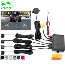 GreenYi Dual Core CPU Car Rearview Parking Sensor Detector Video Radar System Can Connect Rear Camera and Monitor 22MM Sensors